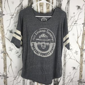 Lucky Brand, Smokey The Bear Graphic T-Shirt, L